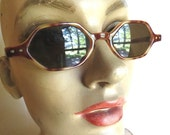 Clearance Sale Vintage 1970's Tortoise Shell Octagon Sunglasses