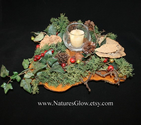 Items similar to candle centerpiece rustic holder