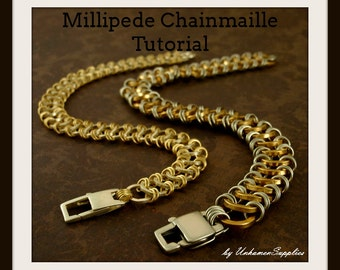 PDF Millipede Chainmaille Bracelet Tutorial - His and Hers
