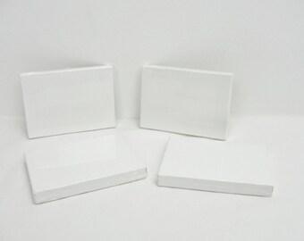 "Mini artist canvas, ACEO sized canvas, 2 1/2"" x 3 1/2"" canvas, set of 4"