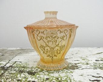 Vintage Victorian Acrylic Dresser Jar