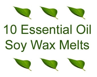 ESSENTIAL OIL Wax Melts - Soy Tarts - Choose 3 fragrances - Soy Wax Melts - 10 Clamshell Soy Tarts - Clamshell Tarts - Dye Free Soy Tarts