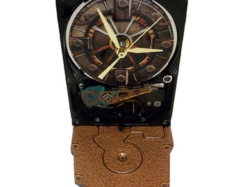 FREE SHIPPING! Hard Drive Clock with Gamer Fallout 4 Vault Door. Got Gamer in the house?