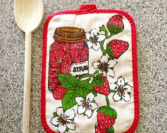 Vintage Strawberry Hot Pad Oven Pad