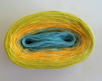SMILE II  Color Changing Cotton yarn  480 yards/100 gr  Fingering Weight