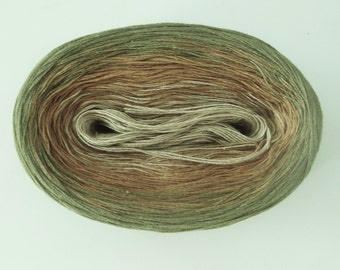 HEMP   Color Changing Cotton yarn  240 yards/50 gr  Fingering Weight