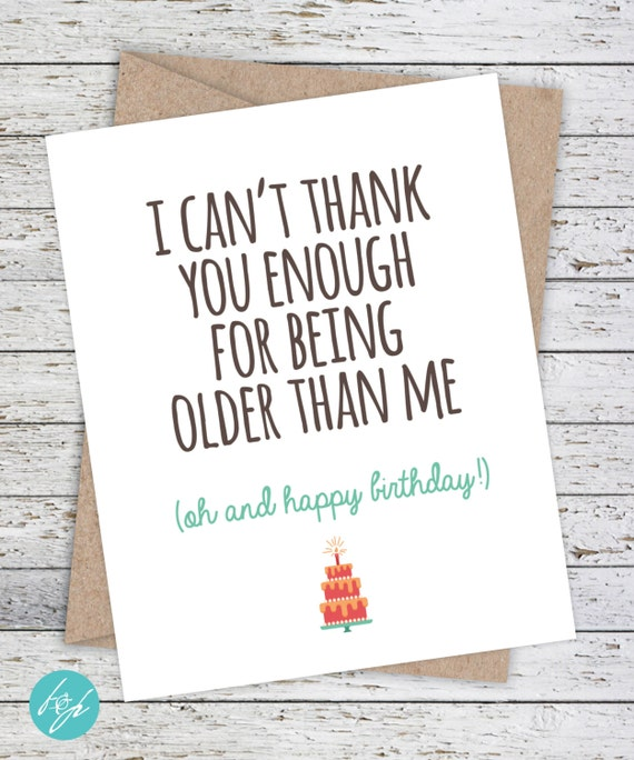 Snap Funny Birthday Card Older Sister Card Brother By Flairandpaper