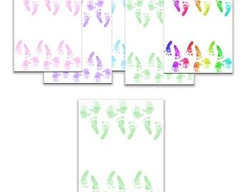 Baby Hand Foot Prints - Printable Scrapbooking Pages Digital Download