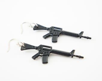 Machine Gun Dangle Earrings