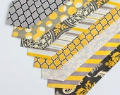 Necktie, Neckties, Mens Necktie, Neck Tie, Mens Necktie, Groomsmen Necktie, Ties, Neck Ties, Wedding Neckties - Grey And Yellow Collection