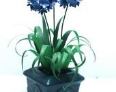 BLUE AGAPANTHUS  handmade Dolls House miniature PLANT flower living room 12th scale