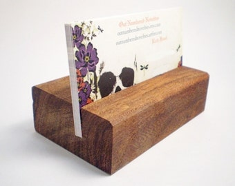 Wooden Business Card Holder - Mesquite - Hand Shaped - 12th