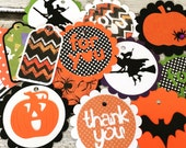 Halloween Themed Gift Tags - Assorted Halloween  Party Favor Tags - set of 15