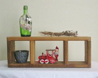 Wood Cube Shadow Box, Wall Hanging Wooden Display Shelf,