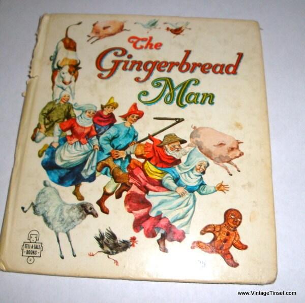 Vintage Children's Book The Gingerbread Man Illustrated