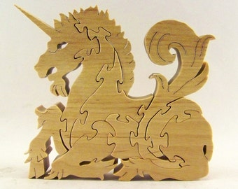 Unicorn Wood Puzzle
