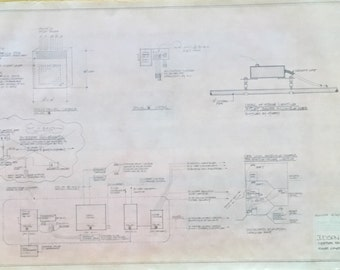 Vintage NYC Judson Church 1977 Blueprint