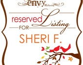 Autumn Love Birds Tree and Leaves Ceremony Programs... Reserved for Sheri F.