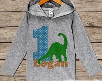 Dinosaur Birthday Outfit - Kid Hoodie - First Birthday Pullover - 1st Birthday Shirt - Boy Hoodie - First Birthday Top - Kids Dino Hoodie