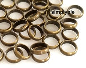 Antiqued Brass Large Hole Ring Rondelle Beads 6x1.5mm 50 Pcs
