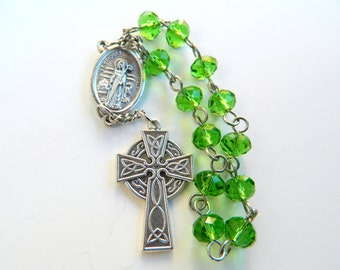 Reversible Saint Bridget/Brigit/Brigid  and Saint Patrick Prayer Chaplet Rosary: Patrons of Ireland