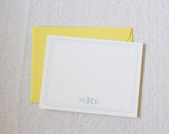 "Personalized Stationery, Personalized Gift, Custom Gift, ""The Ashley"" Monogram Cards by Dodeline Design"