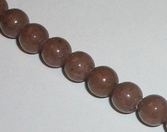 Jade, Mountain Gemstone Round beads 1 strand Opaque Brown Available in 4mm, 6mm, 8mm, 10mm and 12mm
