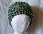 Handspun chunky headband Knit earmuff Merino silk earwarmer Oversized hair scarf  Unisex adult head band teen men women Ponytail hat