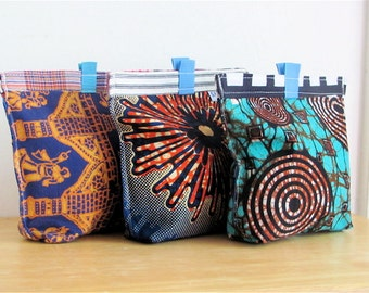 Eco Ethnic Upcycled Snack Bag - Reusable Eco Friendly Fabric Baggie / Pouch - Cloth Sandwich / Treat Bag - Adult / Teen / Coworker Gift