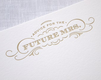 Advice for the Bride Cards - Bridal Shower - Future Mrs - Pack of 10