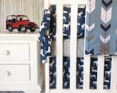 Custom Boy Bedding, Custom Deer Bedding, Custom Boy Arrows Crib Set, Crib Rail Guards, Crib Sets for Boys, Ritzy Baby, Deer Baby