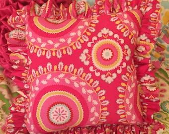 Kumari Garden Jeevan Pink Accent Pillow