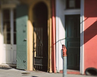 Red Hitching Post, New Orleans Home Decor, French Quarter Art Print, Wall Art, New Orleans Photography, Louisiana Art, Architecture, Door