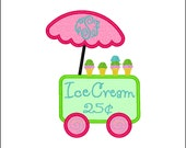 SAMPLE SALE ---Girl Ice Cream Truck  Shirt -Free Personalization!!!