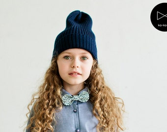 Bow Tie for Girls (blue floral)