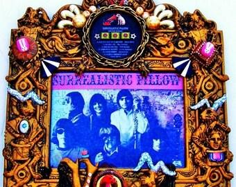 "WHITE RABBIT Record Art Jefferson Airplane ""Surrealistic Pillow,"" Classic Rock Vintage Vinyl SteamPunk Gracie Slick Psychedelic 1967"