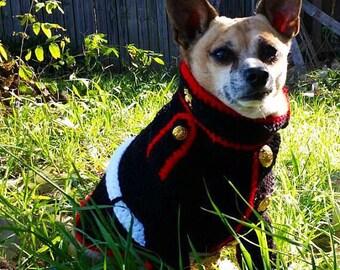 Dog Clothes - Marine Dog Sweater - Marine Dog Costume - Marine Corps - Dress Blues For Dog - Military Dog Costume - Pet Uniform Clothes