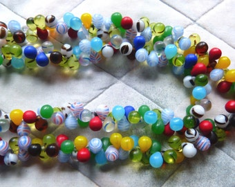 Mali Wedding Beads - Small African Trade Beads - African Glass Beads - Two Strand Necklace