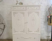 Painted Cottage Chic Shabby French Dresser/ Chest CH885