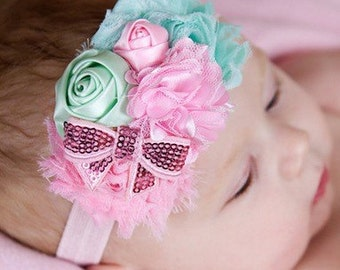 items similar to lavender chiffon and tulle flower items similar to easter lavender white and aqua shabby