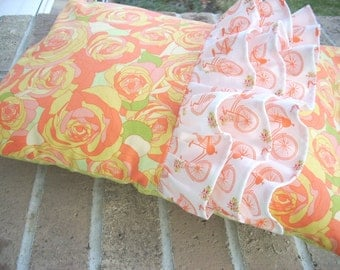 acreage ruffled pillow cover - FREE SHIPPING