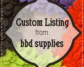 custom listing for Sandra