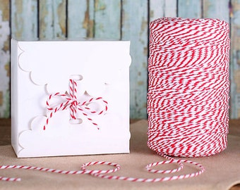 White Candy Box Kit, Small White Favor Boxes & Bakers Twine, Small Cookie Box, Valentines Day Goodie Box, Valentine's Candy Boxes (5 ct)