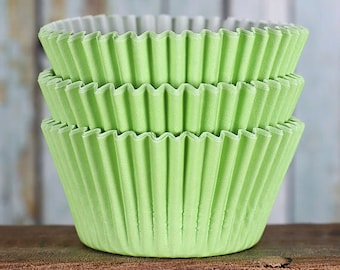 Lime Green Cupcake Liners, BakeBright Cupcake Liners, Christmas Cupcake Liners, St Patrick's Day Cupcake Liners, Baking Cups, Cupcake Cases