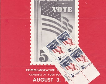 VOTE Sc. #1249 US Postage Stamps 1964 With Souvenir Poster