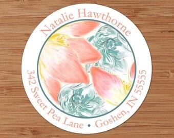 Pink Lotus Flower - Custom Address Labels or Stickers