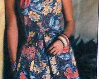 Vintage Backwrap Dress Sewing Pattern UNCUT Simplicity 8020 Size 10