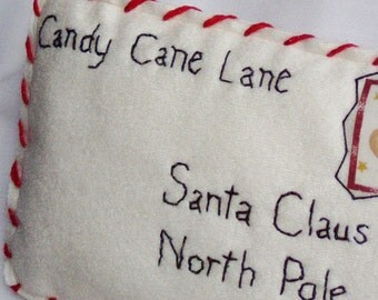 Christmas Ornament Letter to Santa by Happy Valley Primitives