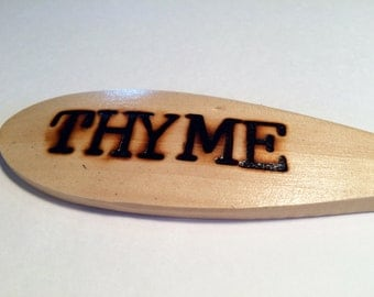 THYME-Wooden Spoon Plant Marker