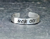 F'ck Off Sterling Silver Toe Ring - Solid 925 - TR210